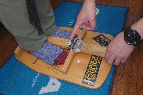 登山靴のサイズ合わせ 痛い靴の修理