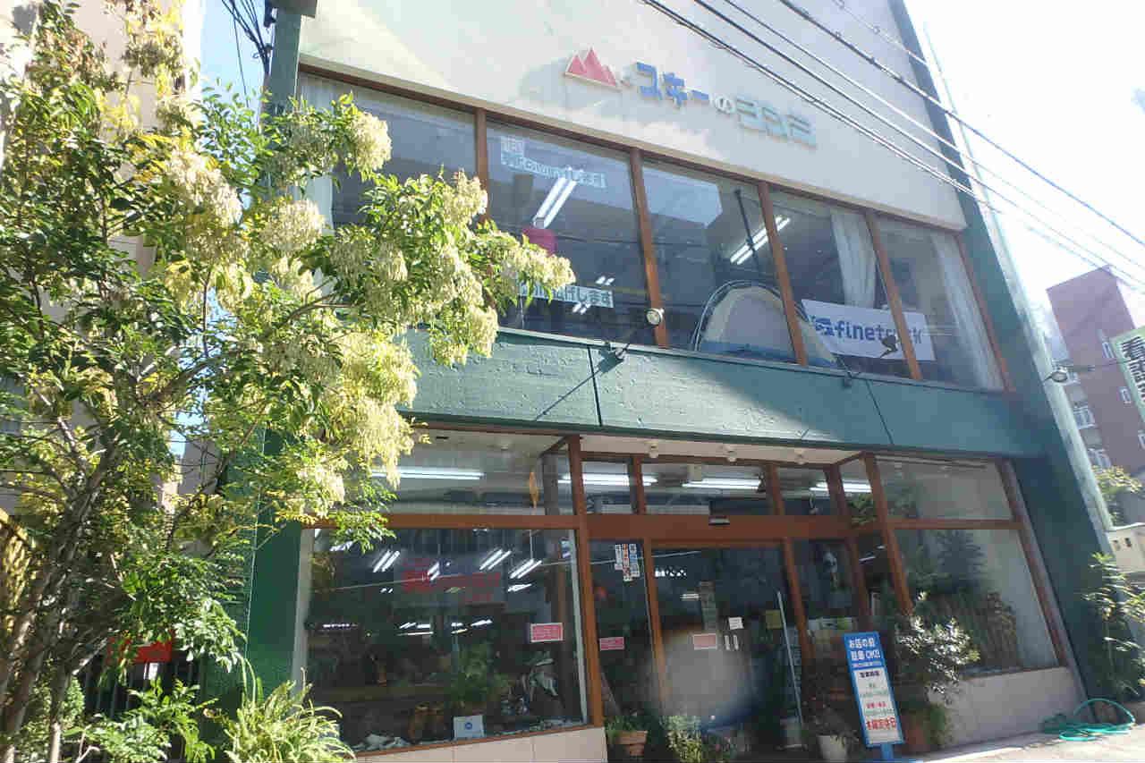 これが登山用品専門店、愛山家のお店、ヨシミスポーツだ!