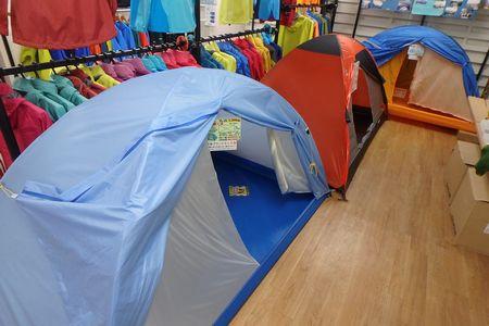 テント売り場移動しました。