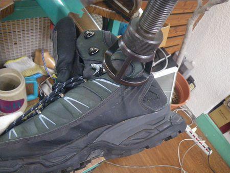 登山靴の幅拡げ 修理 サロモン靴