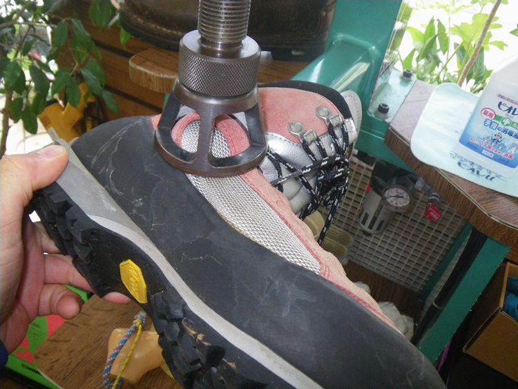 登山靴 修理 痛い靴の幅拡げ