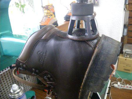 登山靴 修理 幅広げ