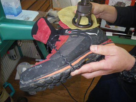 登山靴 サイズ調整 修理 20年1月6日