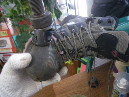登山靴 サイズ調整 幅拡げ修理 2020年1月25日
