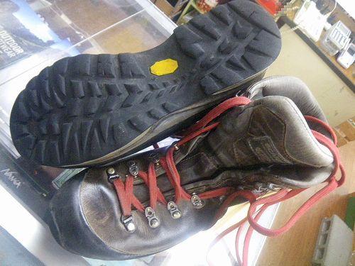 登山靴 靴底張替え修理 20・05・16